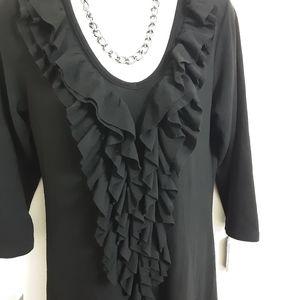 Forever 21 Dresses - Forever 21 Long Sleeve Black Dress Size M. New
